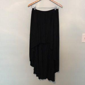 Hi-Low Black Maxi Skirt
